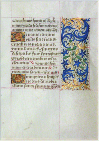 Image for A leaf from a medieval manuscript, Book of Hours, Use of Paris.