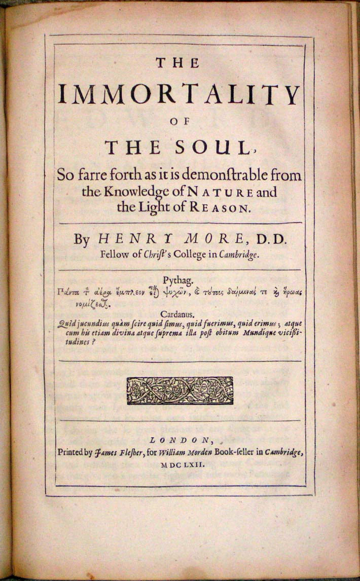 Image for A Collection Of Several Philosophical Writings of Dr. Henry More Fellow of Christ's Colledge in Cambridge.  As Namely, His Antidote against Atheism.  Appendix to the said Antidote.  Enthusiasmus Triumphatus.  Letters to Des-Cartes, &c.  Immortality of the Soul.  Conjectura Cabbalistica.