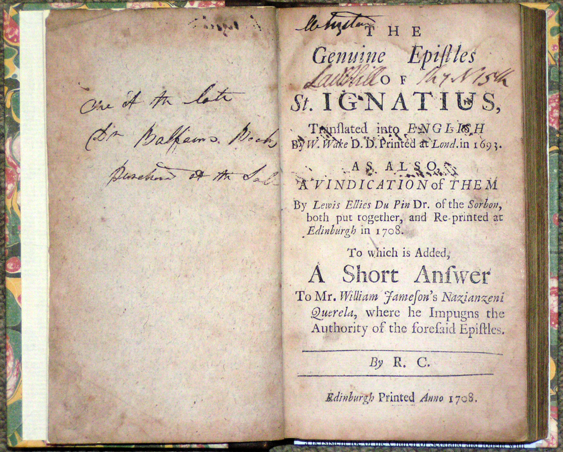 Image for The Genuine Epistles of St. Ignatius